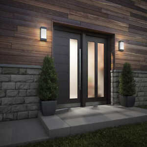 Indoor/Outdoor LED Wall Light Scone