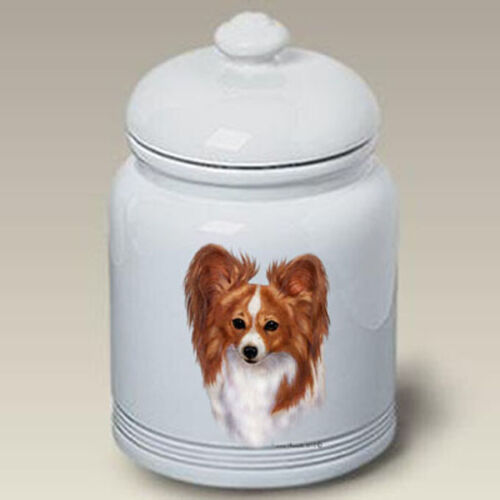 Red and White Papillon Ceramic Treat Jar TB 34064