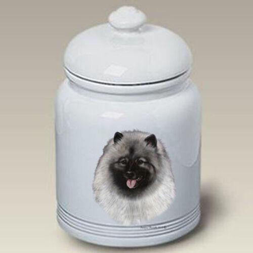 Keeshond Ceramic Treat Jar TB 34017
