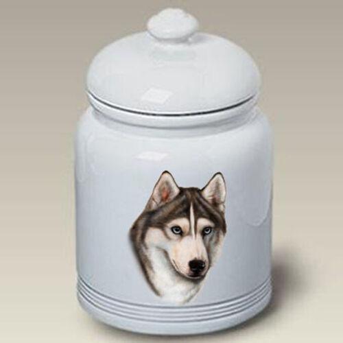 Siberian Husky Grey & White Treat Jar