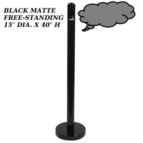 SPRV2  SMOKER POLE, BLACK MATTE,FREE-STANDING  15″ DIA. X 40″ H $170