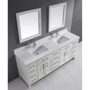 New Washroom Duel Vanity Door Mirrors White Design 30 x 26