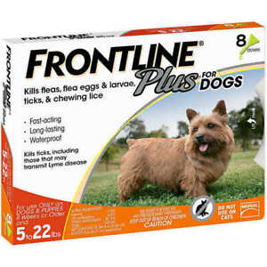 FRONTLINE Plus For Dogs 0-22 Lbs 3 Months Supply Damaged Boxes. - $20.00