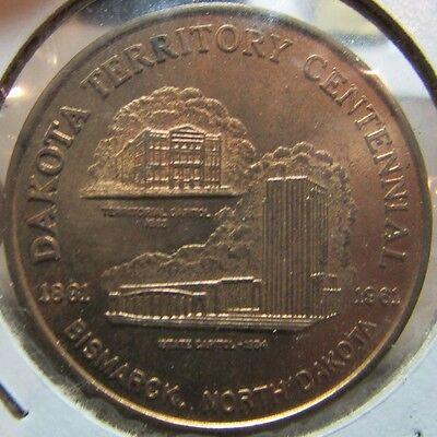 1961 Dakota Territorial Centennial Bismarck, ND 50c Trade Token - North Dakota