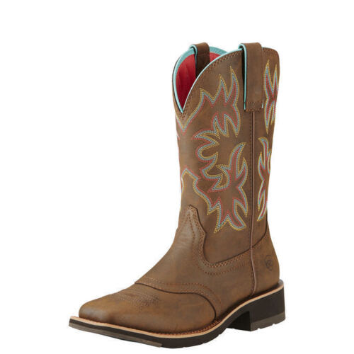 """Ariat 10018676 Delilah 10"""" Wide Square Toe Western Cowgirl F"""