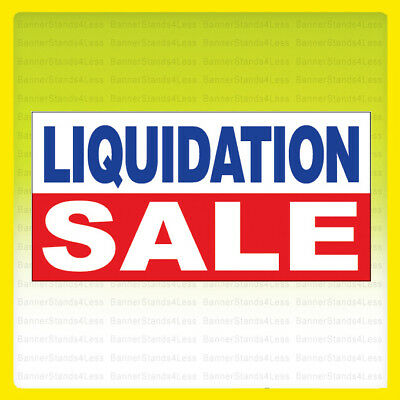 Liquidation Sale - Vinyl Banner Sign 2x4 Ft - Wb