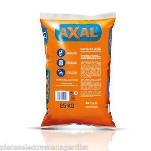 Sac de sel pour adoucisseur d 39 eau axal pro sac de 25 kg ebay - Sel adoucisseur axal ...