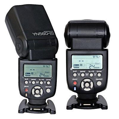 Yongnuo YN-560 III Wireless Trigger Speedlite Flash for Canon Nikon Camera US