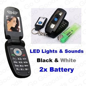 ✮Luxury Mini Smallest Car Key X5 X6 FOB Flip Phone BOSS ✮Keychain✮LED✮GIFT✮