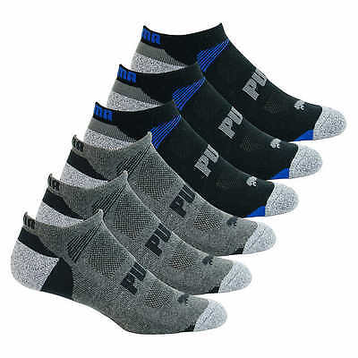 Puma Men's 8 Pack Pairs No Show Socks Available In Black Or White New!!