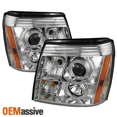 Fits 2002-2006 Cadillac Escalade Halo Projector Headlights DRL LED Left+Right