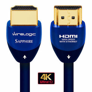 WireLogic 3.6M 12 Feet 4K 3D HDR  HDMI Cable with ethernet