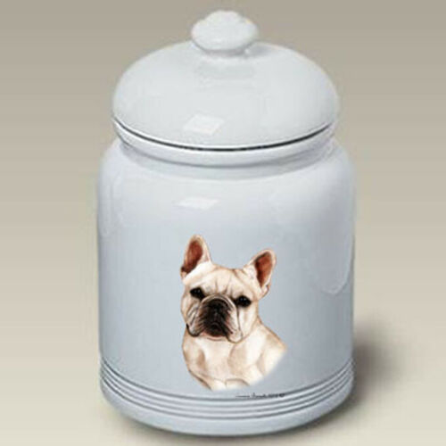 French Bulldog White Treat Jar