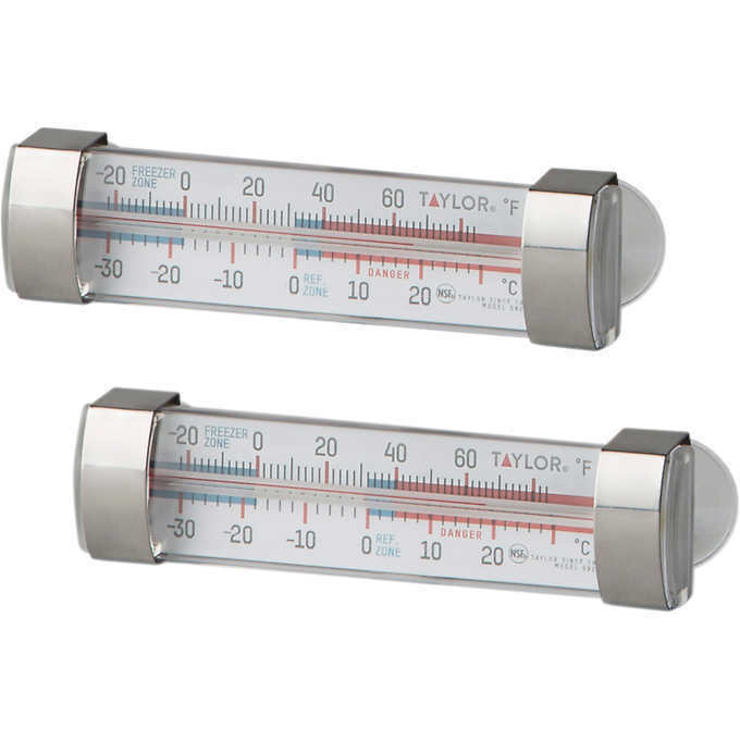 Taylor Fridge and Freezer Thermometer, 2 Count