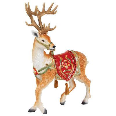 REDUCED Fitz and Floyd Bellacara Xmas Deer Figurine Holiday Decor / Christmas