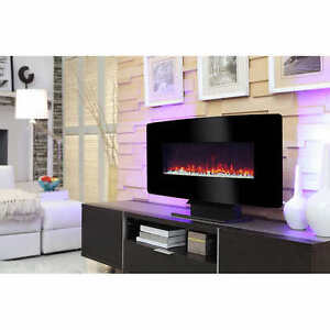 35 in. Electric Wallmount Fireplace