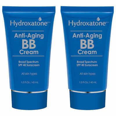 Hydroxatone Anti-Aging BB Cream, SPF 40 Universal Shade 2 pack of 1.5OZ (0981)
