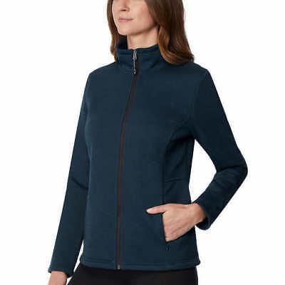 32 Degrees Ladies' Plush Lined Tech Fleece Jacket - Winter Forest (Dark Green) Dark Green Jacket Fleece