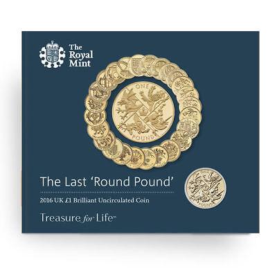Last Round Pound 2016 United Kingdom £1 Brilliant Uncirculated Coin New In (1 Last Unit)