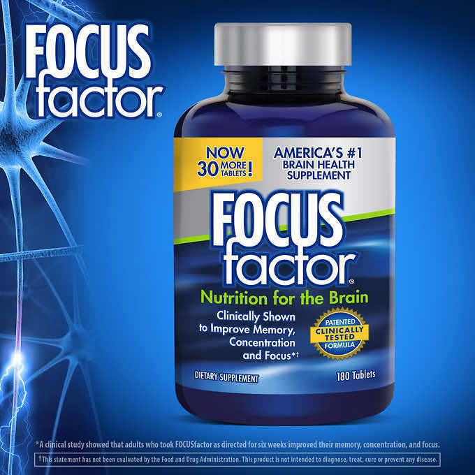 FOCUS factor Dietary Supplement, 180 Tablets