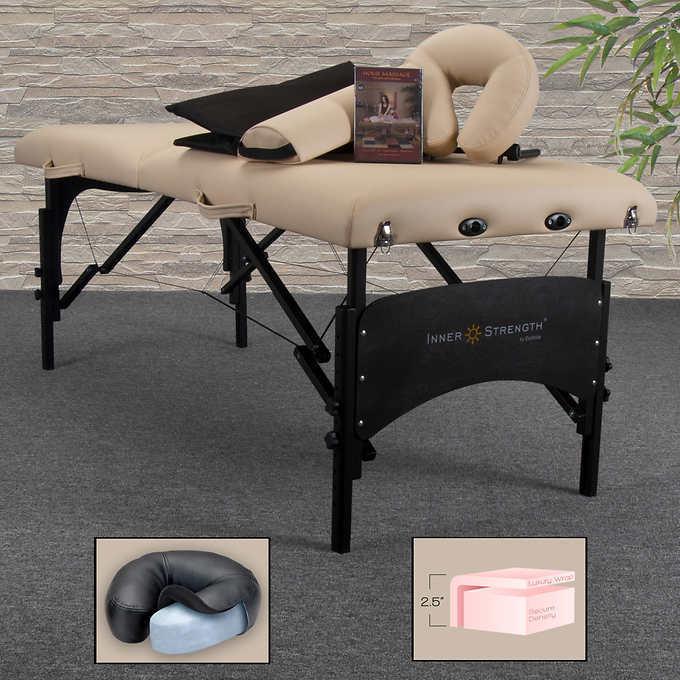 Earthlite Inner Strength PRO Massage Table, Deluxe Carry Cas