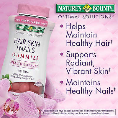 Nature's Bounty Hair Skin and Nails with Biotin Antioxidants  230 Gummies