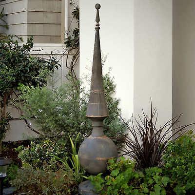 Bogart Garden Finial Sculpture, Hand Finished Metal, Lawn Decor