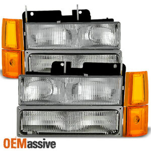 1994-1999 GMC C/K Pickup Suburban Sierra Headlights+Bumper+Corner Signal Lights