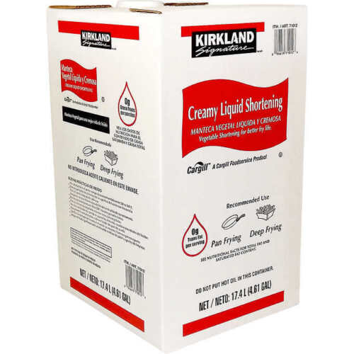 35 lbs Kirkland Signature Creamy Liquid Shortening Pan Deep Frying Vegetable Oil
