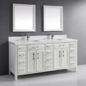 BRAND NEW Duel Washroom Vanity Mirror 30 x 26 Modern White