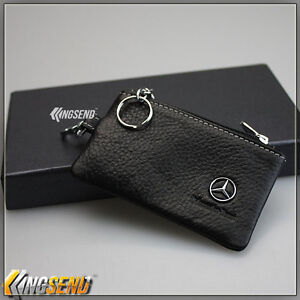Mercedes benz genuine cow leather car key bag remote cover for Mercedes benz key holder