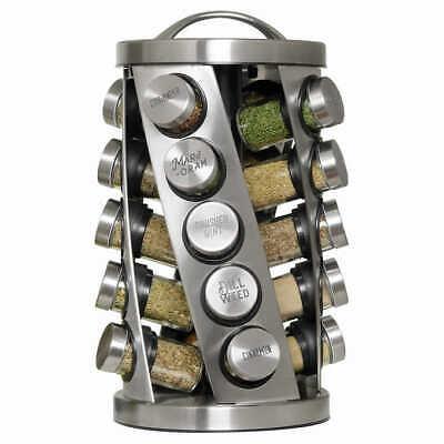 Kamenstein 20 Jar Revolving Spice Rack-Spices Included*NEW*!!!!!!!