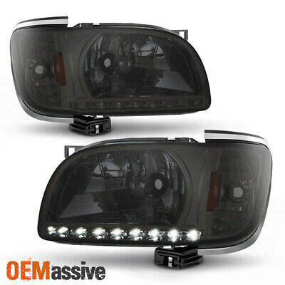 Fits 2001-2004 Toyota Tacoma Replacement Smoked LED 1PC Headlights w/Corner Lamp