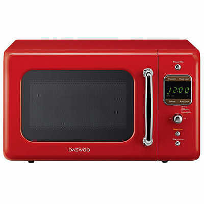 Daewoo Retro 0.7 CuFt 700W Microwave KOR-7LRE, Red for sale  USA