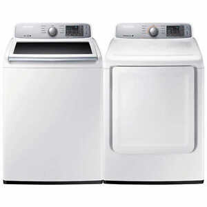 Samsung 2pc Laundry Set Top-Load 5.2 cuft Washer 7.4 cu.ft Dryer