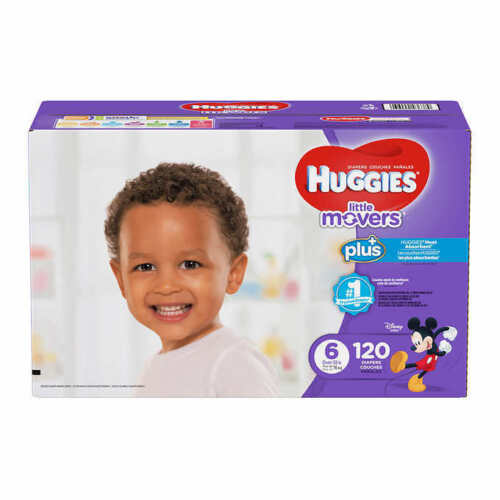 Huggies Plus Diapers Size 6: 35lbs and up, 120ct - Free Shipping - New!