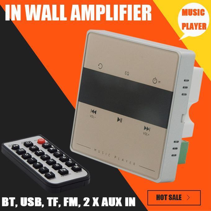 In Wall Amplifier Audio System Player Touch Key Digital Bluetooth Stereo Speaker