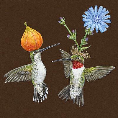 Vicki Sawyer Hummingbirds Cocktail Napkins (20 Pack)