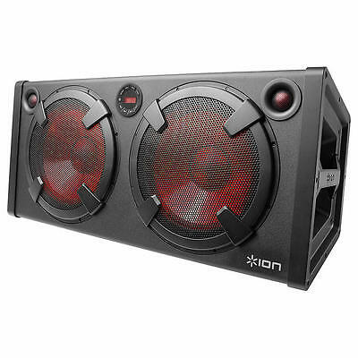 ION Road Warrior Bluetooth 500W Portable Rechargeable Stereo Speaker System NEW!