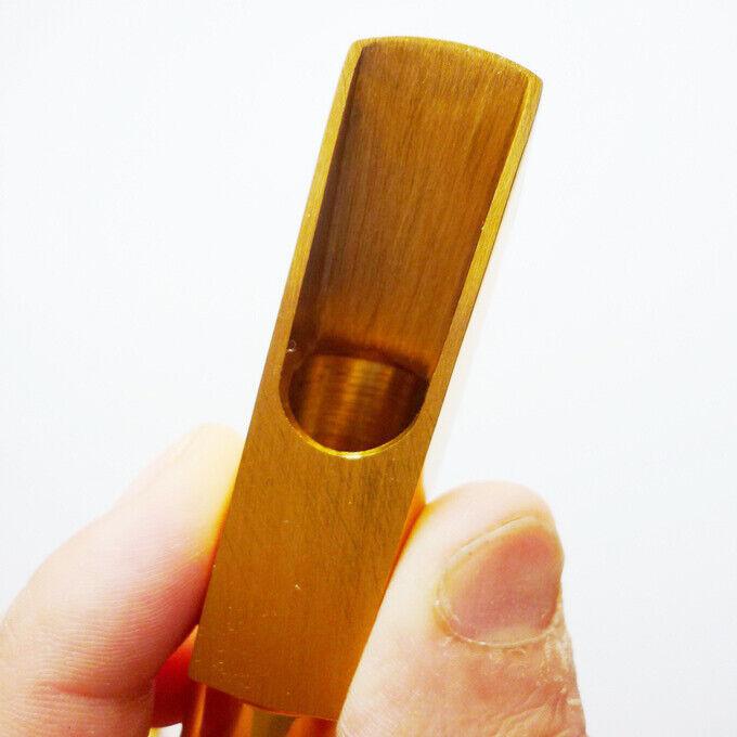 New #5-9 Gold Alto Saxophone Sax Copper Mouthpiece w/ Cap Ligature Good Sound