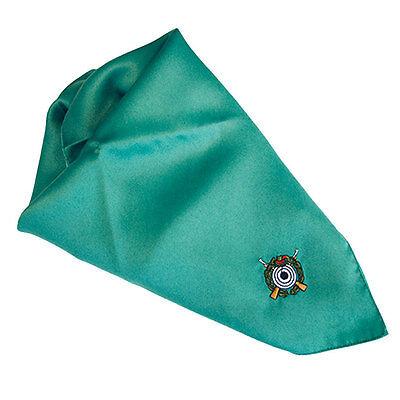 Tuch Halstuch Einstecktuch grün Schützen Schützenverein Uniform Schützenemblem