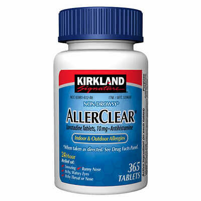 Kirkland AllerClear Non-Drowsy Allergy Loratadine 10mg 365 Tablets - Fresh!