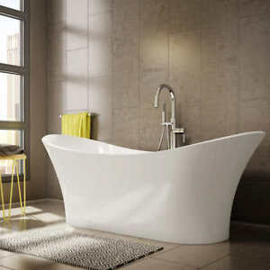 Jono Boann 69 in. Free Standing Oval Bathtub