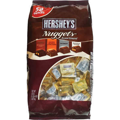 (Hershey's Chocolate Nuggets Variety Pack, 52 oz.)