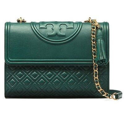 Authentic Tory Burch Fleming Convertible Shoulder Bag Large Norwood 31381 Green