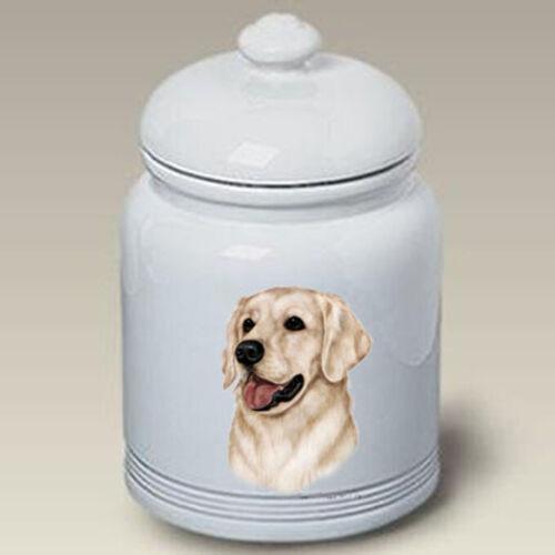 Golden Retriever White Treat Jar