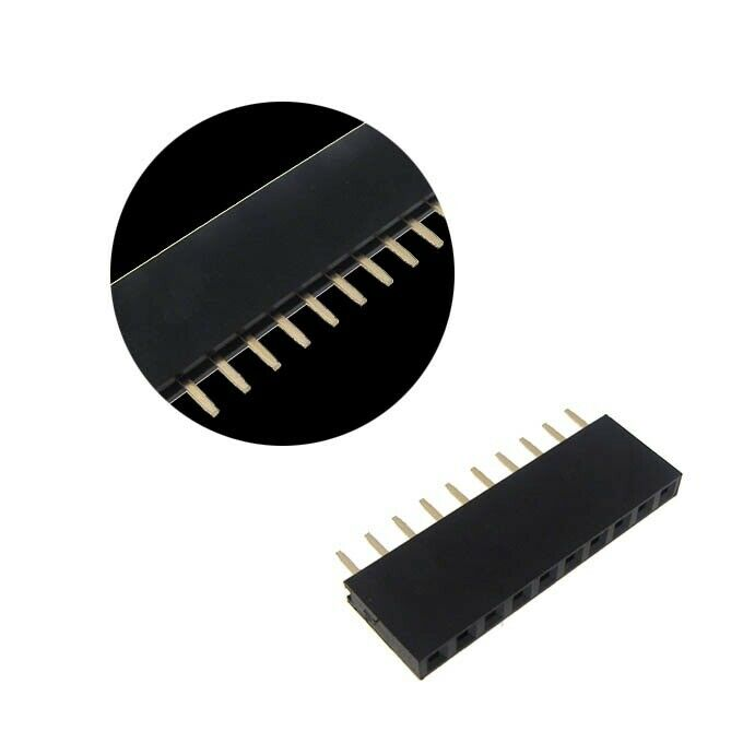 """10-pin 2.54mm 0.1"""" Female Header 10 Pins - Pack Of 10"""