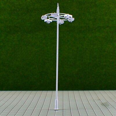 S212 - 2 Stück moderne Straßenlampen 6-flammig 12cm weiß für Plätze Marktplatz