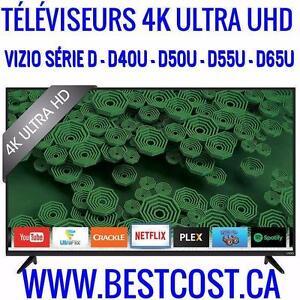 Télévision DEL TV D40U - D50U - D55U - D65U VIZIO 4K ULTRA UHD 120HZ - TOUT LES MODÈLES DISPONIBLE SUR BESTCOST.CA