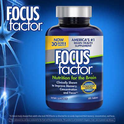 FOCUSfactor Dietary Supplement, 180 Tablets